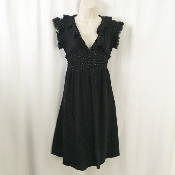 Betsey Johnson Dresses & Skirts - Betsey Johnson Black Ruffle Polka Dot Dress